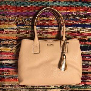 Nine West Leather Handbag with metallic handles